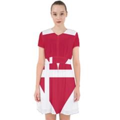 Heart Love Flag Denmark Red Cross Adorable In Chiffon Dress
