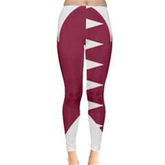 Heart Love Flag Qatar Leggings