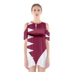Heart Love Flag Qatar Shoulder Cutout One Piece