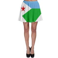 Heart Love Flag Djibouti Star Skater Skirt