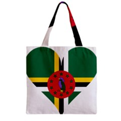 Heart Love Flag Antilles Island Zipper Grocery Tote Bag