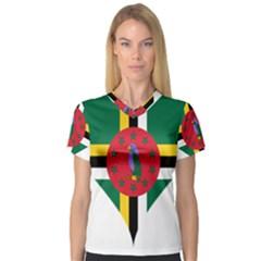 Heart Love Flag Antilles Island V Neck Sport Mesh Tee