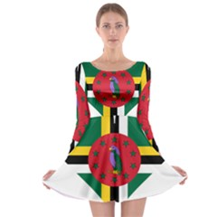 Heart Love Flag Antilles Island Long Sleeve Skater Dress