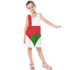 Heart Love Affection Oman Kids  Sleeveless Dress