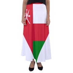 Heart Love Affection Oman Flared Maxi Skirt