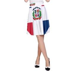 Heart Love Dominican Republic A Line Skirt