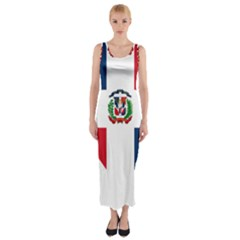 Heart Love Dominican Republic Fitted Maxi Dress