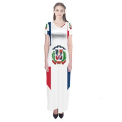 Heart Love Dominican Republic Short Sleeve Maxi Dress