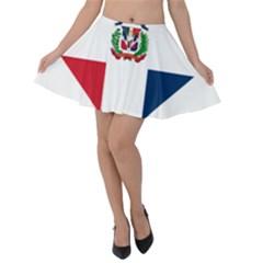 Heart Love Dominican Republic Velvet Skater Skirt