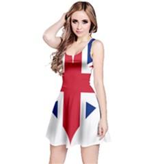 Heart Love Heart Shaped Flag Reversible Sleeveless Dress