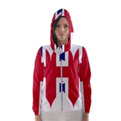Heart Love Heart Shaped Flag Hooded Wind Breaker (women)