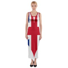 Heart Love Heart Shaped Flag Fitted Maxi Dress