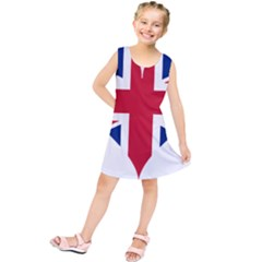 Heart Love Heart Shaped Flag Kids  Tunic Dress