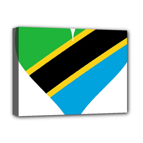 Heart Love Tanzania East Africa Deluxe Canvas 16  X 12