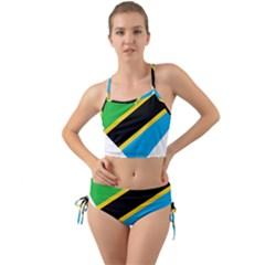 Heart Love Tanzania East Africa Mini Tank Bikini Set