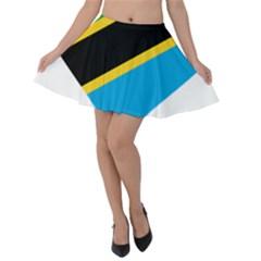 Heart Love Tanzania East Africa Velvet Skater Skirt