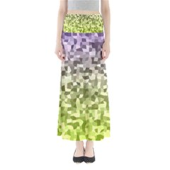 Irregular Rectangle Square Mosaic Full Length Maxi Skirt