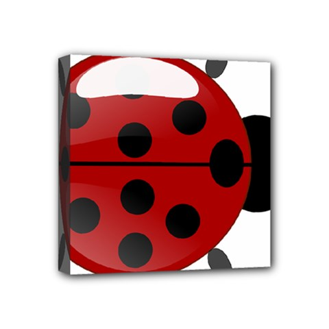 Ladybug Insects Colors Alegre Mini Canvas 4  X 4