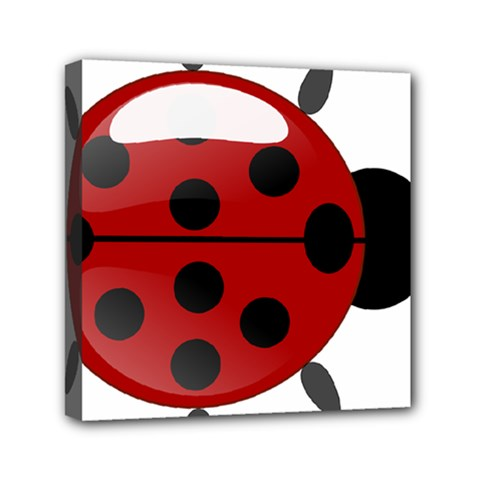 Ladybug Insects Colors Alegre Mini Canvas 6  X 6