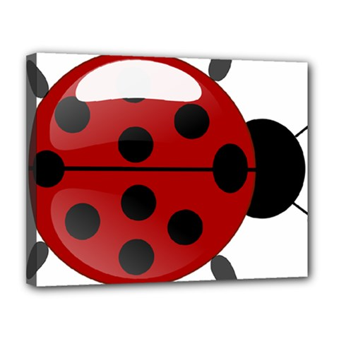 Ladybug Insects Colors Alegre Canvas 14  X 11