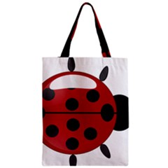 Ladybug Insects Colors Alegre Zipper Classic Tote Bag