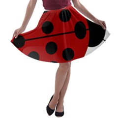 Ladybug Insects Colors Alegre A Line Skater Skirt