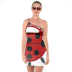 Ladybug Insects Colors Alegre One Soulder Bodycon Dress