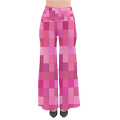 Pink Square Background Color Mosaic Pants