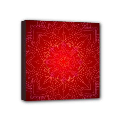 Mandala Ornament Floral Pattern Mini Canvas 4  X 4