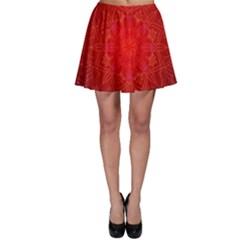 Mandala Ornament Floral Pattern Skater Skirt