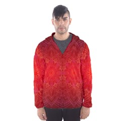 Mandala Ornament Floral Pattern Hooded Wind Breaker (men)