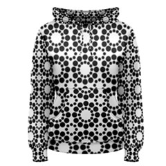 Pattern Seamless Monochrome Women s Pullover Hoodie