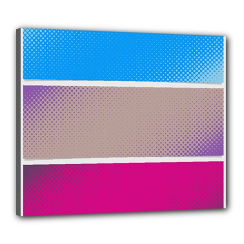 Pattern Template Banner Background Canvas 24  X 20