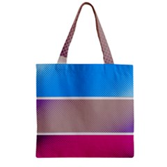 Pattern Template Banner Background Zipper Grocery Tote Bag