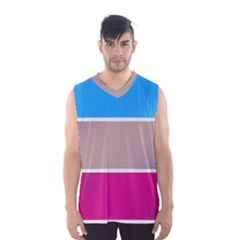 Pattern Template Banner Background Men s Basketball Tank Top