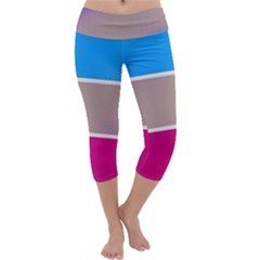 Pattern Template Banner Background Capri Yoga Leggings