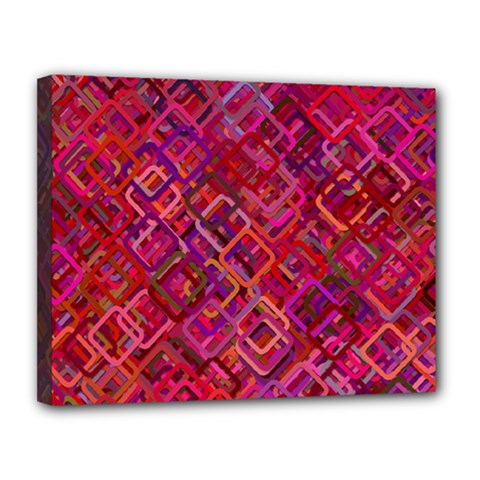 Pattern Background Square Modern Canvas 14  X 11