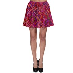 Pattern Background Square Modern Skater Skirt