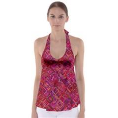 Pattern Background Square Modern Babydoll Tankini Top