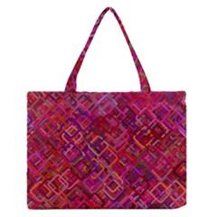 Pattern Background Square Modern Zipper Medium Tote Bag