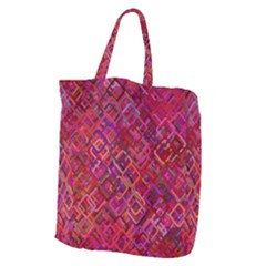 Pattern Background Square Modern Giant Grocery Zipper Tote