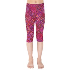 Pattern Background Square Modern Kids  Capri Leggings