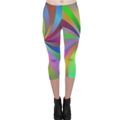 Spiral Background Design Swirl Capri Leggings