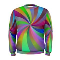 Spiral Background Design Swirl Men s Sweatshirt