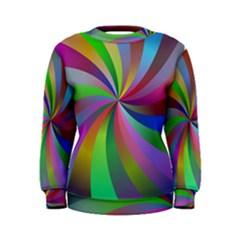 Spiral Background Design Swirl Women s Sweatshirt