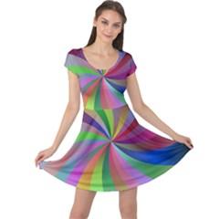 Spiral Background Design Swirl Cap Sleeve Dress