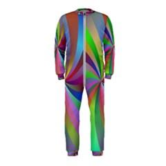 Spiral Background Design Swirl Onepiece Jumpsuit (kids)