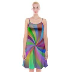 Spiral Background Design Swirl Spaghetti Strap Velvet Dress