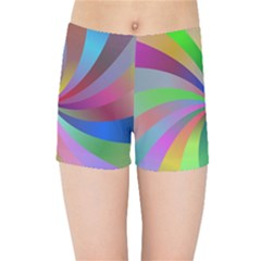 Spiral Background Design Swirl Kids Sports Shorts