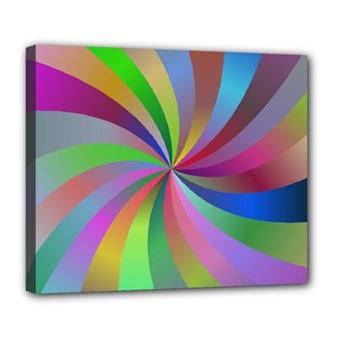 Spiral Background Design Swirl Deluxe Canvas 24  X 20